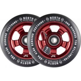 2 roues North HQ wine/black...